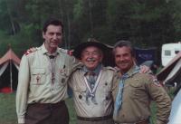 The Exiloree in Germany, Miloš on the left, Jiří Čejka on the right