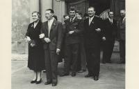 Miloš Miltner's parents on the left in the front - Miloš' wedding in 1956