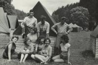 In 1958 in the scout camp