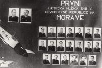 Tablo 1. letecké hlídky SNB v osvobozené republice na Moravě, v Brně, 1945