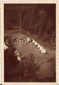 The camp site of the 10th troop Hanáci