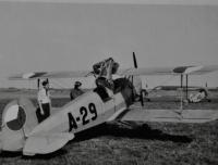 Bücker C4 / označení A jako akademický letoun / Hradec Králové / asi 1946