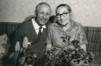 Jan a Žofie Bláhovi, rodiče 1975