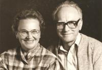 Jiřina Křížková s manželem, 80. léta