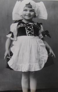 Jiřina Křížková v dětství