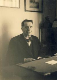 Dědeček Bohumil Vacek