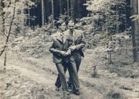 Strýc Vladimír Vacek a František Procházka