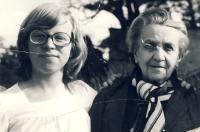 Dcera Michaela s tetičkou Růženou Vackovou