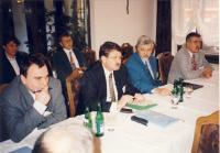 Porada na ministerstvu práce a sociálních věcí, asi 1994