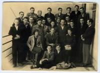 Mykola Malachivs'kyj in the the College of Arts Kunstgewerbeschule (second from the left in the back row)
