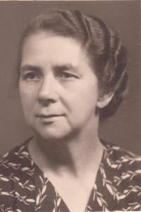 Josefa Dostálová, matka Libuše Hiemerová, která byla také internována ve Svatobořicích