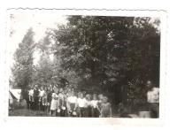 A line at the Scout camp 1939
