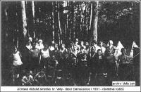 Návštěva rodičů na táboře jičínských vlčat v roce 1931 (soukromý archiv Jana Vally)