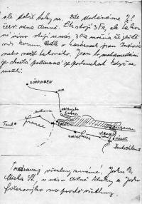 Dopis od Josefa Švorce (píše v něm o přeplavání Bogamského jezera)