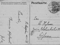 """Pohlednice od Josefa Švorce (píše v něm o přeplavání Bodamského jezera: """"Stando, hranice překonal Joska"""") B"""