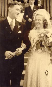 svatba 12. června 1948