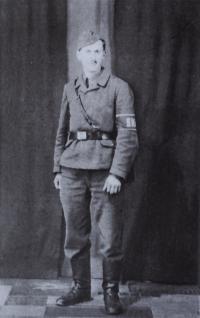 Stanislav Hylmar v uniformě SNB