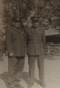 Antonín Bukový on the right