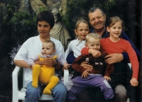 Jiří Blatný together with grandchildren