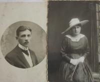 Rodiče Evy Osvaldové, Josef Rosenfelder a Běla Toušková