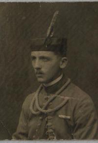 Josef Rosenfelder v sokolské uniformě