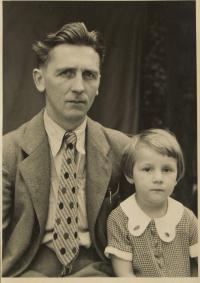 Josef Rosenfelder s dcerou Evou
