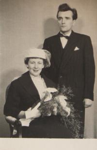 Eva Rosenfelderová a Zdeněk Osvald, svatební fotografie