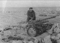 General Selner in Tobruk