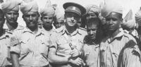 With an Indian troop