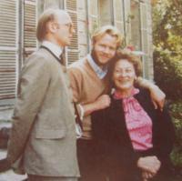 Manželka pamětníka Mabille rozená Rohan se syny Richardem a Alleinem
