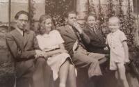 Sourozenci Belcredi - zleva- Ludvík, Marie Teresie, Hugo, Richard, Egbert