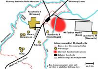 A map of the Auschwitz Concentration Camp