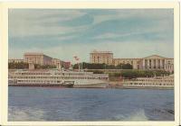 Poválečný Volgograd - centrum města, pohled z řeky