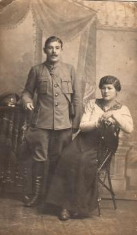Růžena Biněvská with her first husband Biněvský