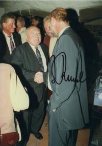 S ministrem vnitra Janem Rumle v 90. letech