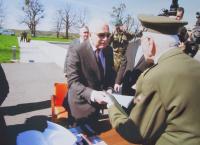Vasil Coka with Czech president Václav Klaus in Hrabyně
