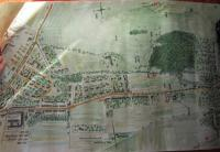 A map of the place in Bystřice pod Hostýnem where Vasil Coka was wounded while liberating the village on 6 May 1945