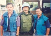 Tři se zajatých v Gruzii (uprostřed Jaroslav Kulíšek)