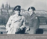 Jaroslav Klemeš a Ludvík Čambala (vpravo) v Praze - 1945