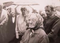 Maminka pamětnice  Anežka Tkáčová v Čeladné