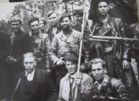 Partyzánská brigáda Jana Žižky z Trocnova (uprostřed velitel D. B. Murzin)