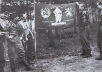 Prapor čs. partyzánské brigády Jana Žižky