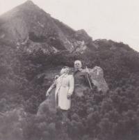 S manželkou Miladou, 1950