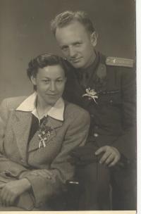 Jozef Činčala with his wife Milada, 1962