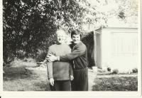 With his son-in-law Vladimír, 1977