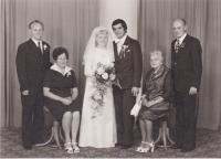 Svatba nejmladší dcery Heleny, červen 1977