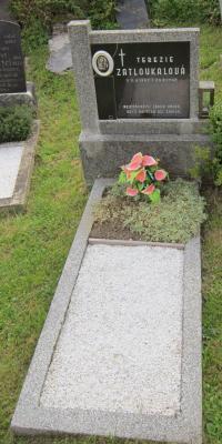 Hrob Terezie Zatloukalové v Nové Senince, která  žila na samotě Urlich až do své smrti v roce 1962