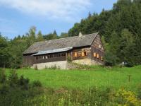 Chalupa z osady Urlich-  část která patřila do katastru Kunčic (Kunzendorf) V tomto domě bydlel Čech Alois Zapletal