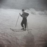 František Stanzel v zimě na Urlichu
