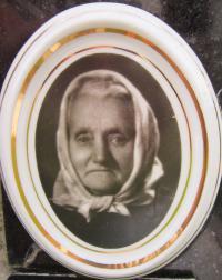 Terezie Zatloukalová, která  žila na samotě Urlich až do své smrti v roce 1962
